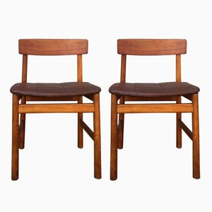 Oak BM 236 Side Chairs by Børge Mogensen for Fredericia, 1950s, Set of 2