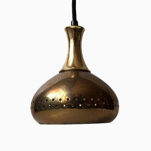 Lámpara colgante Mid-Century de latón de Hans-Agne Jakobsson para Markaryd AB