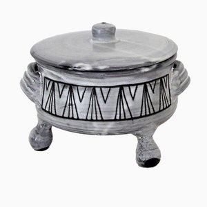 Scatola in ceramica di Jacques Pouchain per L'Atelier Dieulefit, anni '50