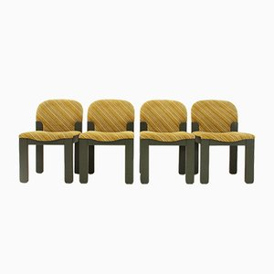 Easy Dining Chairs by Ernesto Radaelli for Saporiti, 1980s, Set of 4