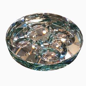 Italienischer verspiegelter Kristallglas Aschenbecher / Schale von Pietro Chiesa für Fontana Arte, 1960er