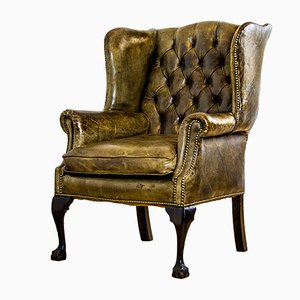 Chesterfield Wing Armchair, 1970s