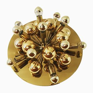 Golden Sputnik Wall or Ceiling Lamp from Cosack, 1970s