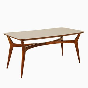Table en Hêtre Teinté et Formica, Italie, 1950s