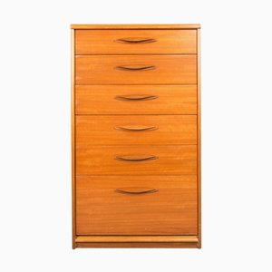 Mid-Century Teak Tallboy Chest of Drawers from Austinsuite