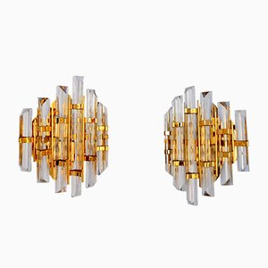 Murano Glass Wall Sconces by Paolo Venini, 1960s, Set of 2