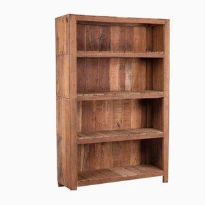 Indisches Vintage Holz Bücherregal