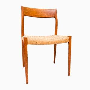 Danish Model 77 Teak Chair by Niels O. Møller for J.L. Møller, 1960s