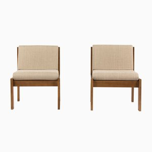 Low Chairs par André Sornay, 1960s, set de 2