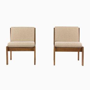 Niedrige Stühle von André Sornay, 1960er, 2er Set