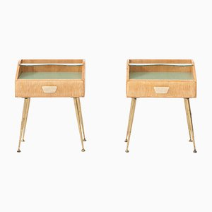 Italian Bedside Tables, 1950s, Set of 2