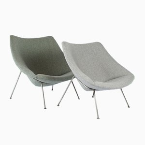 Mid Century Small U0026 Large Oyster Chairs By Pierre Paulin For Artifort