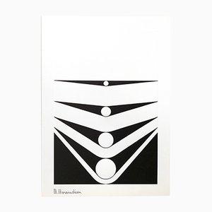 Serigrafia senza titolo edizione 230 di Marcello Morandini per Panderma, 1977
