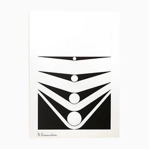 Untitled Serigraph, Ed. 230 by Marcello Morandini for Panderma, 1977