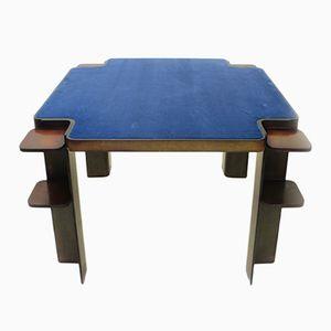 Mesa de juegos italiana cuadrada de madera de Cini & Nils, años 70