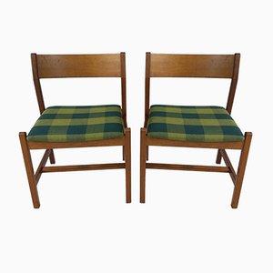 Mahagoni Esszimmerstühle von Børge Mogensen für Fredericia, 1980er, 2er Set