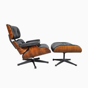 Sessel & Fußhocker von Charles & Ray Eames für Vitra, 1960er