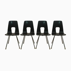 Model Ein Punkt Chairs by Hans Bellmann for Horgenglarus, 1951, Set of 4