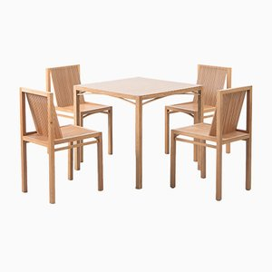 Dutch Dining Table & Chairs by Ruud Jan Kokke Latjes, 1984