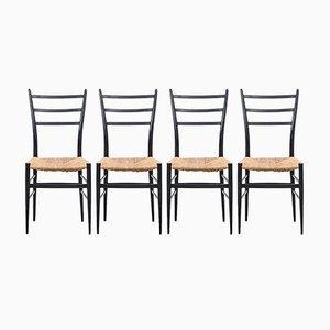 Spinetto Esszimmerstühle von Chiavari, 1950er, 4er Set