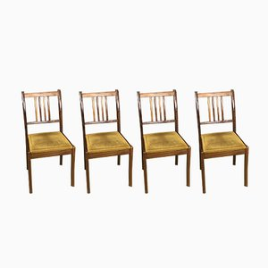 Vintage Teak Chairs, 1970s, Set of 4