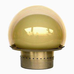 Lámpara de mesa vintage de vidrio y latón de Carlo Nason