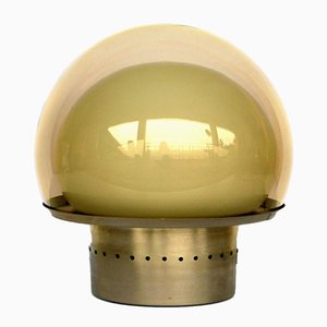 Vintage Brass & Glass Table Lamp by Carlo Nason