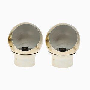 Vintage Klot 3 Tischlampen oder Wandlampen von Hemi, 2er Set