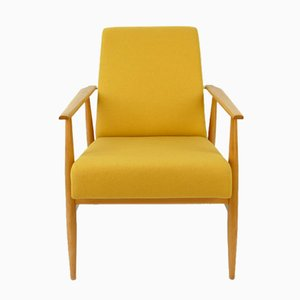 Sessel aus gelber Wolle, 1960er