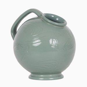 Brocca vintage in ceramica verde di Ipsens Enke