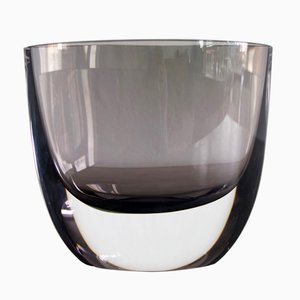 Jarrón vintage de vidrio ahumado de Christian von Sydow para Kosta Boda