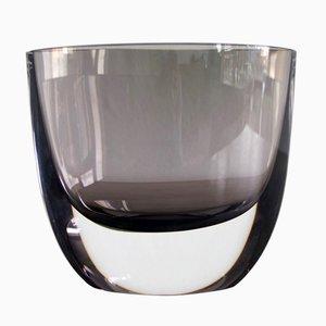 Vintage Rauchglas Vase von Christian von Sydow für Kosta Boda