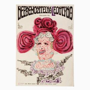 Leontine Movie Poster by Karel Teissig, 1969