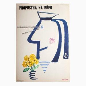 Shore Leave Movie Poster by Vladimír Václav Paleček, 1962