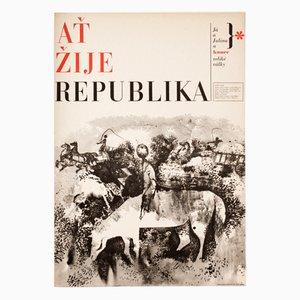 Long Live the Republic Filmplakat von Zdeněk Ziegler, 1965