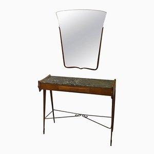 Italienischer Mid-Century Modern Konsolentisch mit Spiegel, 1950er