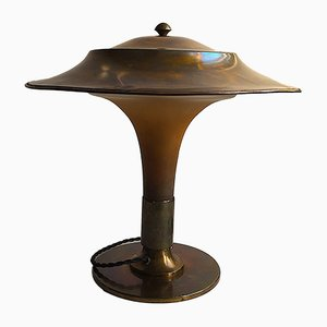 Messing Tischlampe von Fog & Mørup, 1930er
