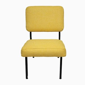 French Yellow Side Chair by Pierre Guariche, 1950s