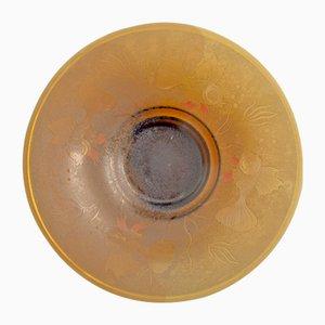 Bohème Art Deco Glas Schale, 1920er