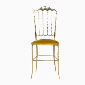 Chiavari Brass Ballroom Chair by Giuseppe Gaetano Descalzi, 1960s