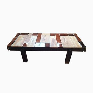 Table Basse Garrigue Tiles Mid-Century par Roger Capron