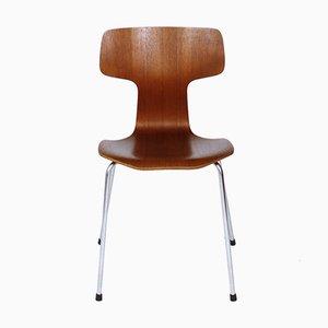 Modell 3103 Teak Esszimmerstühle von Arne Jacobsen für Fritz Hansen, 1960er
