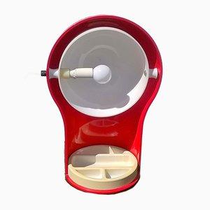 Lámpara de mesa modelo Telegono en rojo de Vico Magistretti para Artemide, 1969