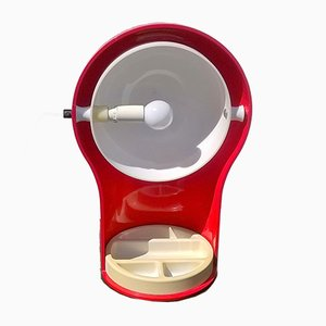 Rote Modell Telegono Tischlampe von Vico Magistretti für Artemide, 1969