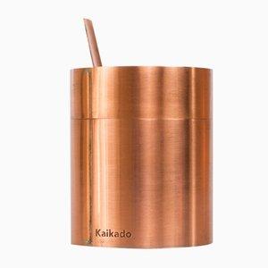 Azucarero Tall Zuk de cobre y vidrio borosilicatado de Shiina + Nardi Design para Hands On Design