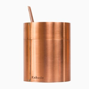 Tall Zuk Sugar Jar in Copper and Borosilicate Glass by Shiina + Nardi Design for Hands On Design