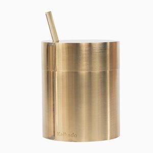 Hoher Zuk Zuckertopf aus Messing und Borosilikatglas von Shiina + Nardi Design für Hands On Design