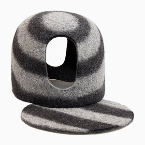 Black Tents Tea Cozy in Pure Natural Wool Felt by Minale Maeda for Hands On Design