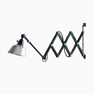 Lámpara de acordeón vintage grande de Curt Fischer para Midgard