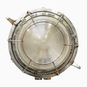 Industrial Circular Outdoor Wall Light, 1950s